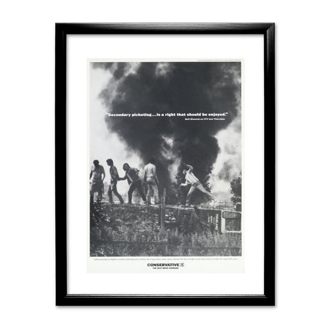 """Secondary picketing... is a right that should be enjoyed."" Black Framed Print"