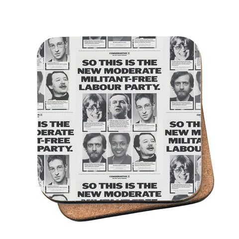 So this is the new moderate militant-free Labour Party Cork Coaster
