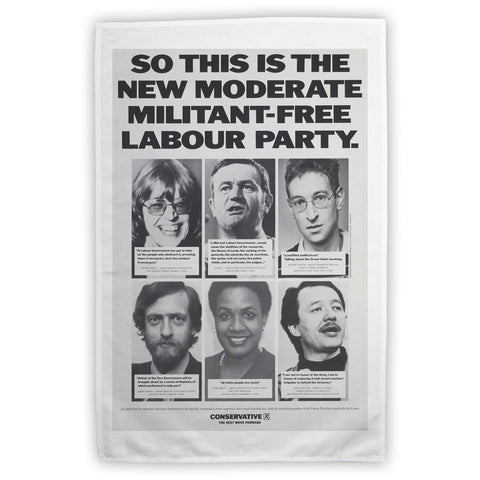 So this is the new moderate militant-free Labour Party Tea Towel