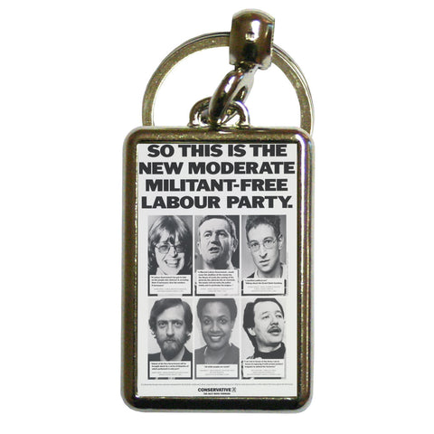 So this is the new moderate militant-free Labour Party Metal Keyring