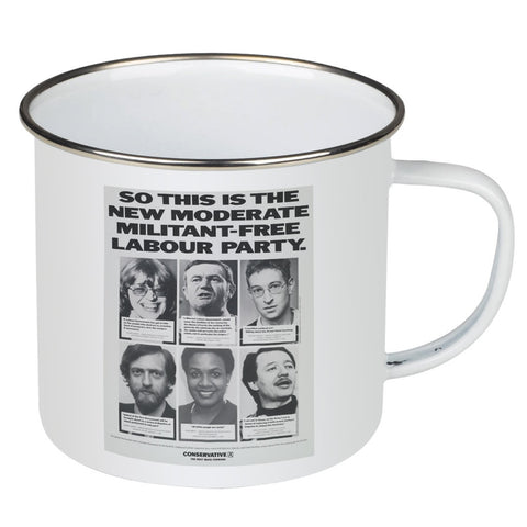 So this is the new moderate militant-free Labour Party Enamel Mug