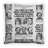 So this is the new moderate militant-free Labour Party Feather Cushion