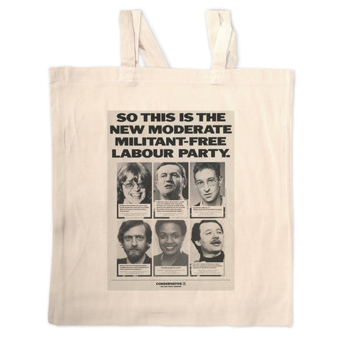 So this is the new moderate militant-free Labour Party Long Handled Tote Bag