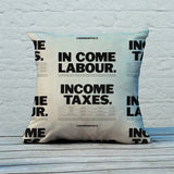 In come Labour. Income taxes Feather Cushion (Lifestyle)