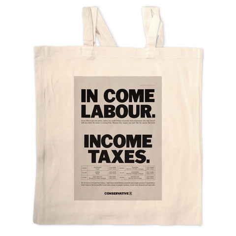 In come Labour. Income taxes Long Handled Tote Bag