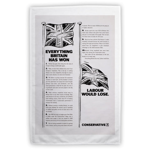 Everything Britain has won Labour would lose Tea Towel