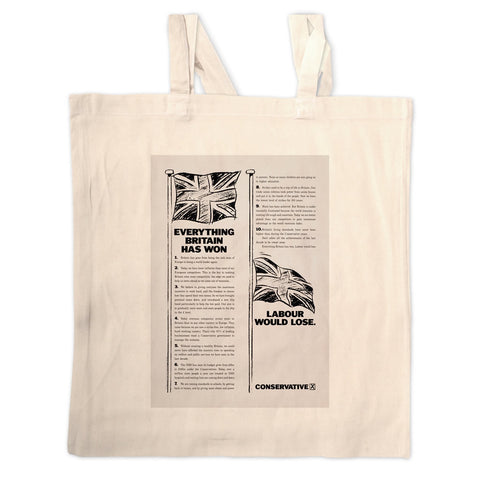Everything Britain has won Labour would lose Long Handled Tote Bag