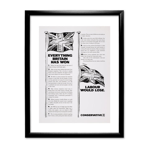 Everything Britain has won Labour would lose Black Framed Print