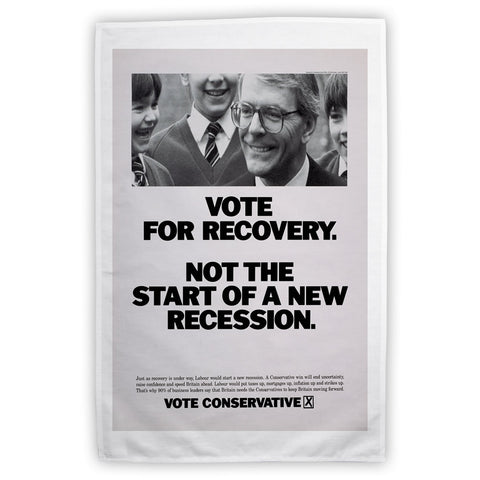 Vote for recovery not the start of a new recession Tea Towel
