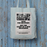 Vote for recovery not the start of a new recession Long Handled Tote Bag (Lifestyle)