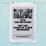 Vote for recovery not the start of a new recession Tea Towel (Lifestyle)