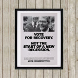 Vote for recovery not the start of a new recession Black Framed Print (Lifestyle)