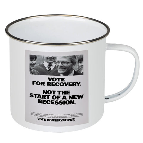 Vote for recovery not the start of a new recession Enamel Mug