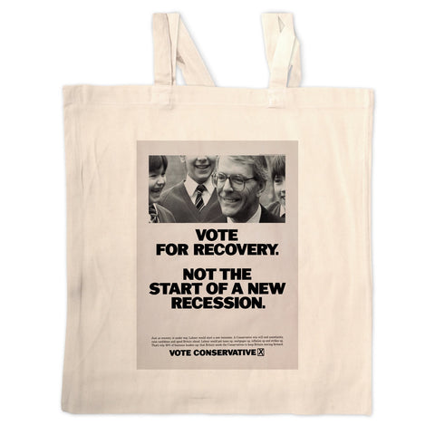 Vote for recovery not the start of a new recession Long Handled Tote Bag