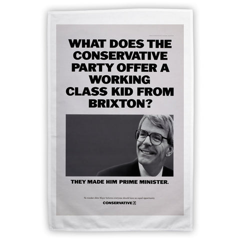 What does the Conservative Party offer a working class kid from Brixton? Tea Towel