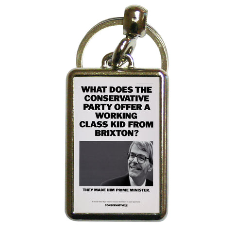 What does the Conservative Party offer a working class kid from Brixton? Metal Keyring