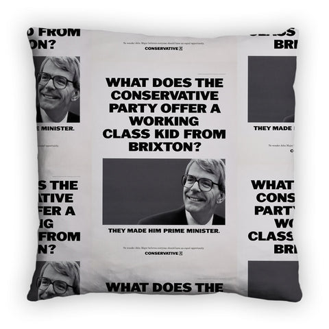 What does the Conservative Party offer a working class kid from Brixton? Feather Cushion