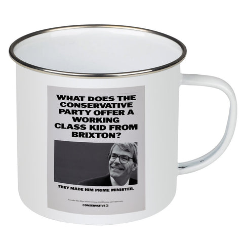 What does the Conservative Party offer a working class kid from Brixton? Enamel Mug