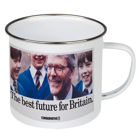 The best future for Britain Enamel Mug