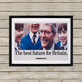 The best future for Britain Black Framed Print (Lifestyle)