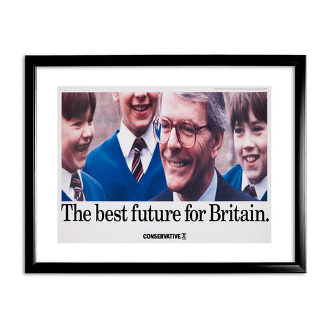 The best future for Britain Black Framed Print