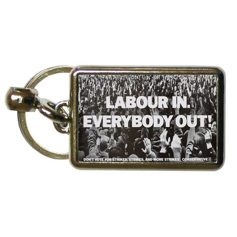 Labour in Metal Keyring