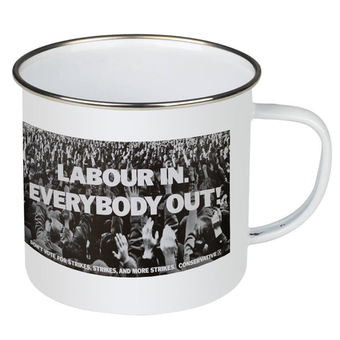 Labour in Enamel Mug