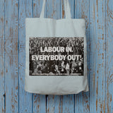 Labour in Long Handled Tote Bag (Lifestyle)