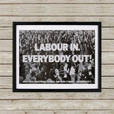 Labour in Black Framed Print (Lifestyle)