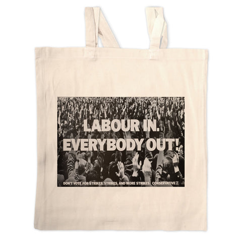 Labour in Long Handled Tote Bag