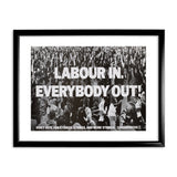 Labour in Black Framed Print