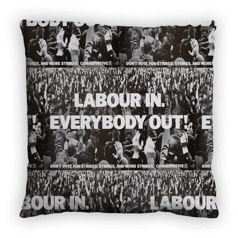 Labour in Feather Cushion