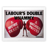 Labour's double whammy Art Print