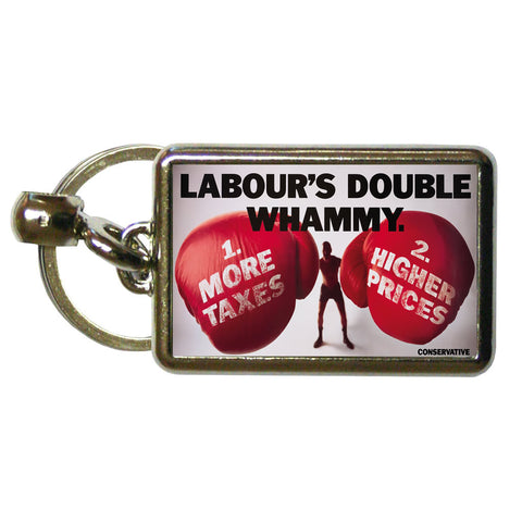 Labour's double whammy Metal Keyring
