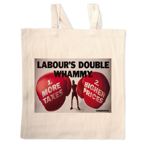 Labour's double whammy Long Handled Tote Bag