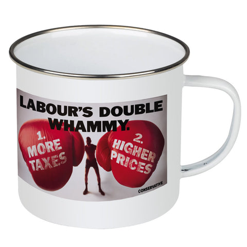 Labour's double whammy Enamel Mug