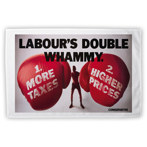 Labour's double whammy Tea Towel
