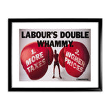 Labour's double whammy Black Framed Print