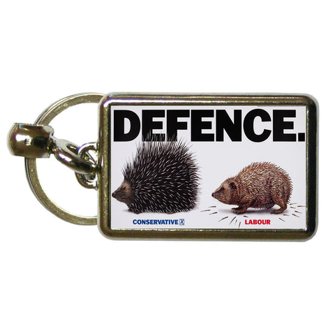 Defence Metal Keyring