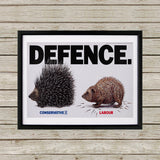 Defence Black Framed Print (Lifestyle)