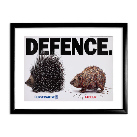 Defence Black Framed Print