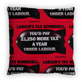 Labour's tax bombshell Feather Cushion