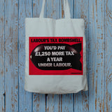 Labour's tax bombshell Long Handled Tote Bag (Lifestyle)