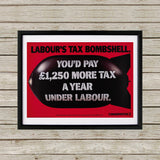 Labour's tax bombshell Black Framed Print (Lifestyle)