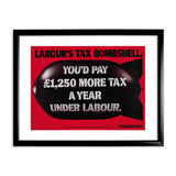 Labour's tax bombshell Black Framed Print