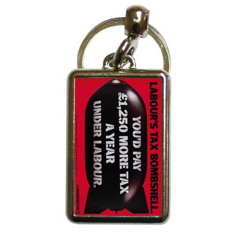 Labour's tax bombshell Metal Keyring