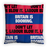 Britain is booming Feather Cushion