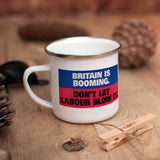 Britain is booming Enamel Mug (Lifestyle)