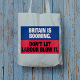 Britain is booming Long Handled Tote Bag (Lifestyle)