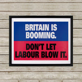 Britain is booming Black Framed Print (Lifestyle)